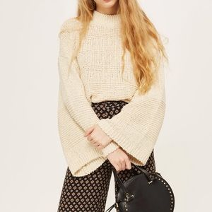 {topshop} knit bell sleeve sweater